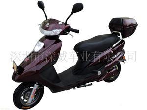 深威18寸350W枣红优悦电动摩托车