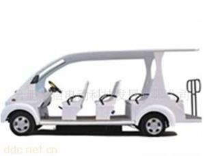 12座白色旅游电动观光车