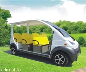 华信8人白色景区电动游览车