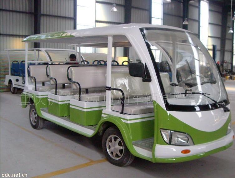 重庆伊莱维克11座绿色电动观光车