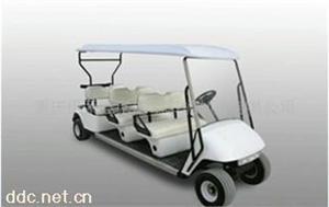重庆伊莱维克6座白色电动高尔夫球车