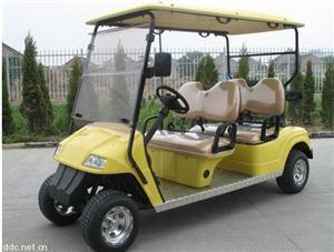 益高4人座黄色电动高尔夫车EG2048K