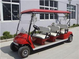 电动高尔夫球车(珍珠红)6座 高尔夫场地 高档房产