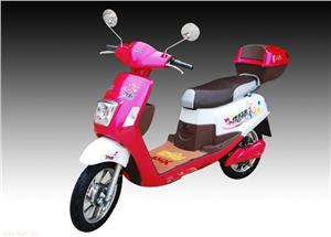 48V萝莉时尚粉色电动摩托车