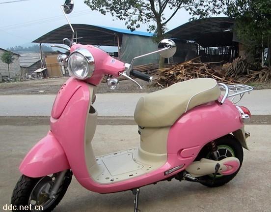 奥龙阳光粉色电动摩托车