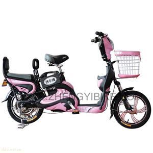 天津夏之星16寸粉色电动自行车