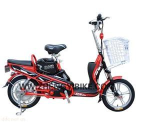 天津16寸城市猎鹰红色简易电动自行车