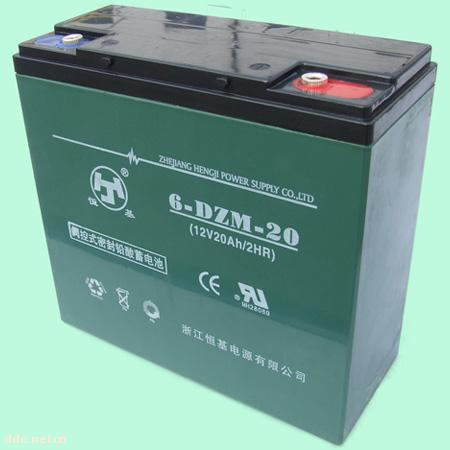浙江恒基6-DZM-20电动车蓄电池