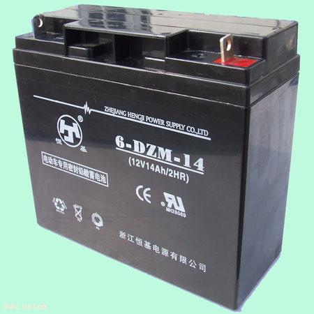 浙江恒基6-DZM-14电动车蓄电池