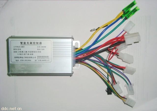 六管48v350w电动车无刷控制器