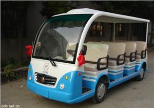 蓝白色9人座电动观光车DL612-1