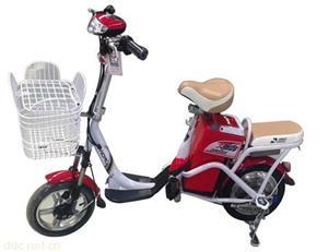 大陆鸽炫雪单人休闲电动自行车