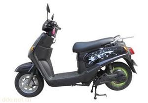 常州鸿尔达卡蒂亚黑色电动摩托车