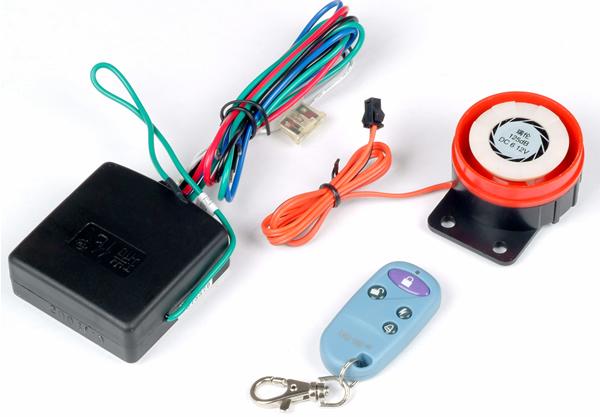 产品规格:36V、48V通用型 单遥控启动型 功能特点:  1、特有电机断电熄火防盗功能;  2、免匙遥控启动功能;  3、特有喇叭六音环绕震撼;  4、防剪线断电防盗功能永久记忆;  5、灵敏度五档遥控器调节;  6、时尚、防水遥控器; 7、抗高压洗车、全密封防水主机