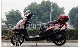 新灵350W红色赛威电动车