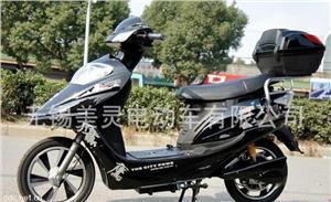 中华舰350W16寸黑色电动摩托车