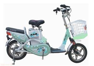 英克莱绿色款14寸丑小鸭简易电动自行车