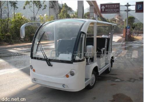 绿舟8座白色舒适型电动观光车